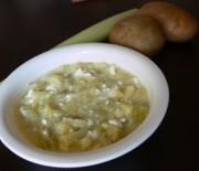 Крем супа от праз лук със сирене