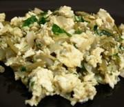 Зелен фасул с яйца