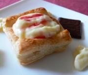 Кубчета от бутер тесто с крем ванилия